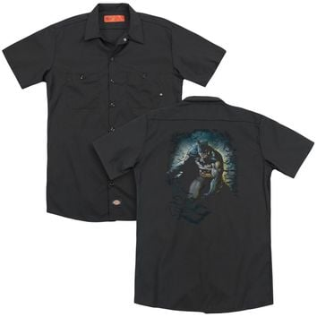 Batman - Bat Cave (Back Print) Adult Work Shirt
