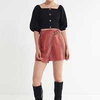 UO Ventura Striped Belted Wrap Skirt | Urban Outfitters