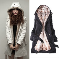Fashion Womens Winter Warm Coat Long Jacket Faux Fur Lining Women Clothing = 1930269636