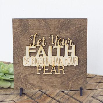 Christian Wall Art - Faith Wall Art Decor - Wood Religious Signs - Be Fearless - Fearless Wooden Sign - Fearless Women - Fearless Gift