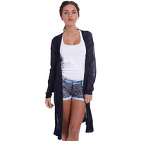 NAVY BLUE JACKET IN LOOSE KNIT