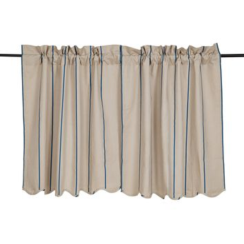 Charlotte Azure Tier Curtains 36""