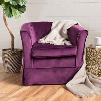 Malie Tub Design Swivel Club Chair