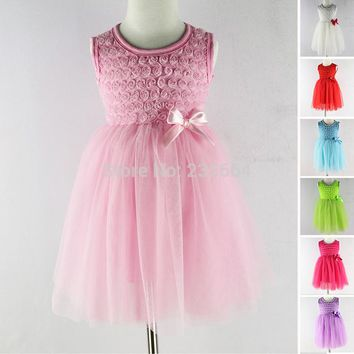 Summer chiffon cute baby dress,Party Wedding Birthday baby girls dresses,princess infant dress TUTU baby clothing Girl Dresses