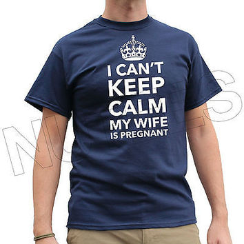 I Can't Keep Calm My Wife Is Pregnant Funny Men T-Shirt Tank Top Vest S-XXL Size