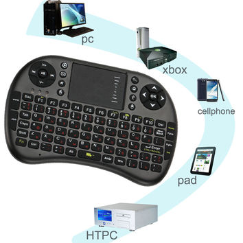 Mini Wireless Keyboard 2.4GHz Fly Air Mouse with Touchpad Handheld Gaming Keyboard for Tablet PC Android TV Notebook tastiera