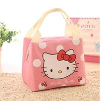Insulated Hello Kitty Stitch School Lunch Bag