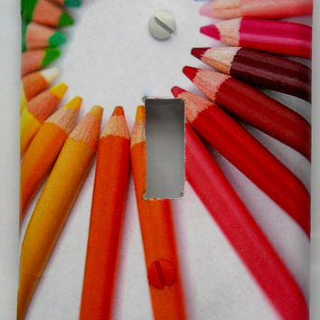 Colored Pencils Light Switch Cover