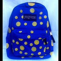 Hand Painted Polka Dot JanSport Backpack