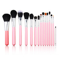 15 pcs Makeup Brushes Set Cosmetic Powder Foundation Eyeshadow Brush Tool Cute Pink Color For Lady Girls