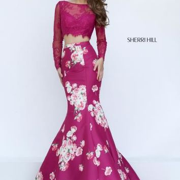 Sherri Hill Two Piece Mermaid Dress 50488