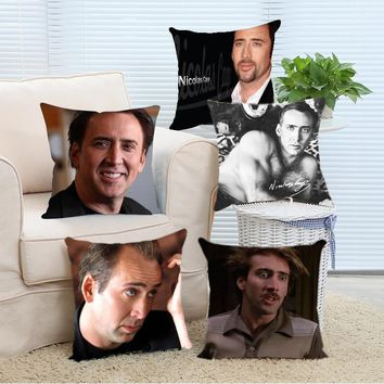 Bedding Set Zippered Nicolas Cage Pillows Covers 18x18inch/20x20 inch/24x24inch (Two Size) Custom Throw Best Pillowcases