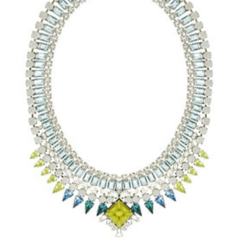 Grey BCBG Teardrop Stone Statement Necklace