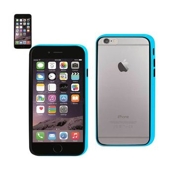 Reiko REIKO IPHONE 6 BUMPER CASE WITH TEMPERED GLASS SCREEN PROTECTOR IN BLUE