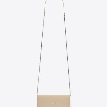 KATE chain and tassel wallet in powder leather