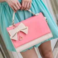 Sweet Elegant Detachable Bowknot Bag