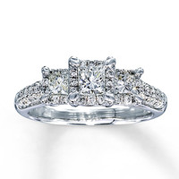 Diamond Engagement Ring 1 ct tw Princess-cut 14K White Gold