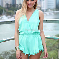 GLAM SEEKER PLAYSUIT , DRESSES, TOPS, BOTTOMS, JACKETS & JUMPERS, ACCESSORIES, 50% OFF SALE, PRE ORDER, NEW ARRIVALS, PLAYSUIT, COLOUR, GIFT VOUCHER,,Blue,Green,JUMPSUIT,SLEEVELESS Australia, Queensland, Brisbane