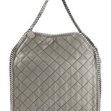 Stella McCartney medium 'Falabella' quilted fold over tote