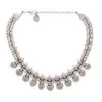 Natalie B Jewelry Triton Necklace in Metallic Silver
