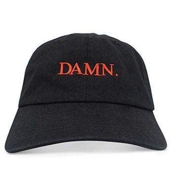 Damn Unstructured Six Panel Dad Hat Kendrick Lamar