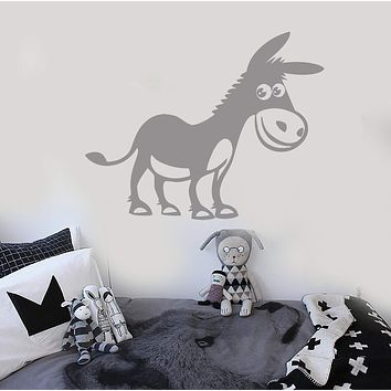 Vinyl Decal Positive Donkey Animal Farm Kids Room Wall Stickers Unique Gift (ig104)
