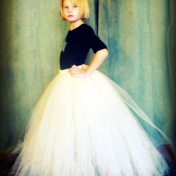 The Katherine - Custom long classic style tutu with Train - SEWN and Super Full - your choice of colors and length
