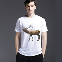 Short Sleeve Pattern Animal Casual Men's Fashion Tee Stylish Cotton Summer Fashion T-shirts = 6450643267