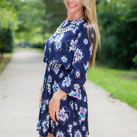 The Poppy Dress, Navy