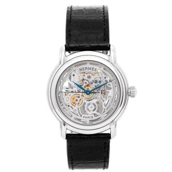 Hermes Stainless Steel Sesame TGM Skeleton Automatic Wristwatch, Ref SM1.710