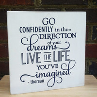 Graduation Sign Go Confidently For Teens Office Studio College Dorm