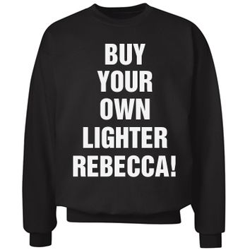 change the name! my bestie borrower buy your own lighter sweater