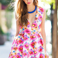 Spring Bloom Flare Dress