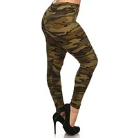 Army Design Plus Size Leggings
