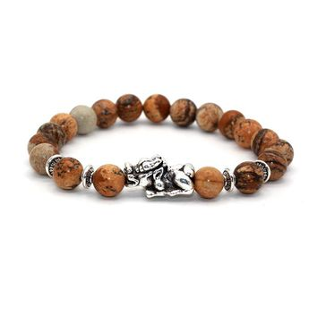 Brave troops Supernatural Lucky Beast  Tiger Eye Bracelet Buddha beads Bracelets Bangles Natural Stone Bracelet