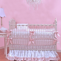 Barbie Crib Bedding | White and Pink Baby Bedding