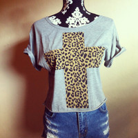 Hipster Leopard Cross Shirt