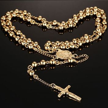 """High Polished"" Vintage Style Rosary"