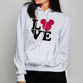 Unisex Hoodie Mickey And Minnie Love