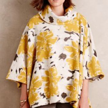 Saturday/Sunday Clustered Flora Cowlneck in Yellow Size:
