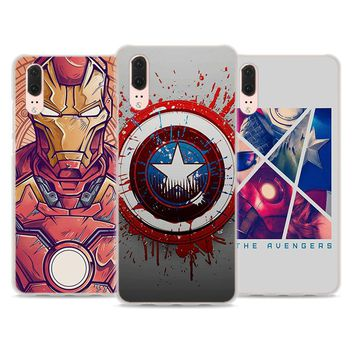 BiNFUL ironman captain america style hard clear Phone Case for Huawei P20 P20Lite P10 Lite P8 P9 Lite 2017 P Smart