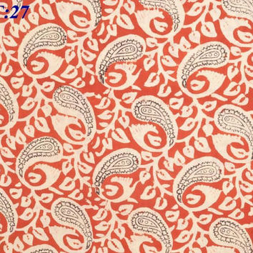SEWING FABRIC Art and Craft GIFT By Yard Cotton Voile Hand Block Print Fabric Natural Dye Fiber Textile