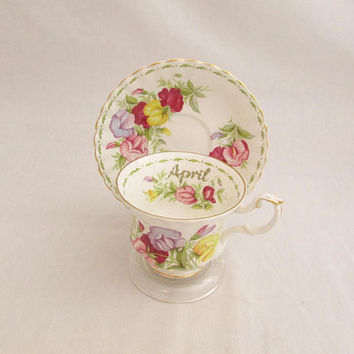Vintage April Flower of the Month Tea Cup - Royal Albert Montrose