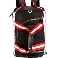 Givenchy Logo Striped Backpack-Duffel Bag, Black/White