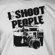 Funny Gifts for Photographers Photography Camera T-Shirt - I Shoot People Tee Shirt T Shirt Geek Photo Film Mens Ladies Womens Youth Kids