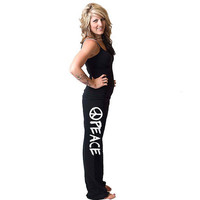 Peace American Apparel California Fleece Pants by rainbowswirlz