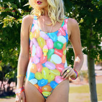 Jelly Bean One-piece Swimsuit