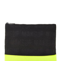 Colorblock Embossed Makeup Pouch