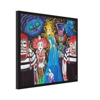 Alice in Zombieland Canvas Print from Zazzle.com