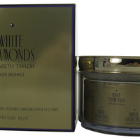 White Diamonds by Elizabeth Taylor Perfumed Body Powder With Puff 5.3 Oz / 150g for Women